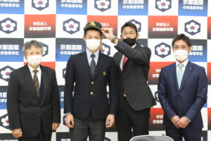 《硬式野球部》福岡ソフトバンクホークスから指名あいさつがございました