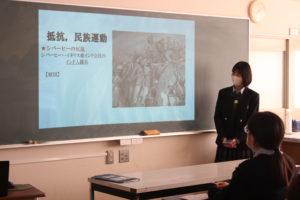 《高校1年進学コース》世界史の探究発表を行いました