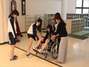중학교 2학년 휠체어 체험실습