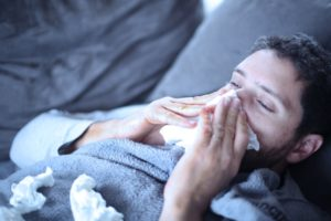 입학시험일에 인플루엔자